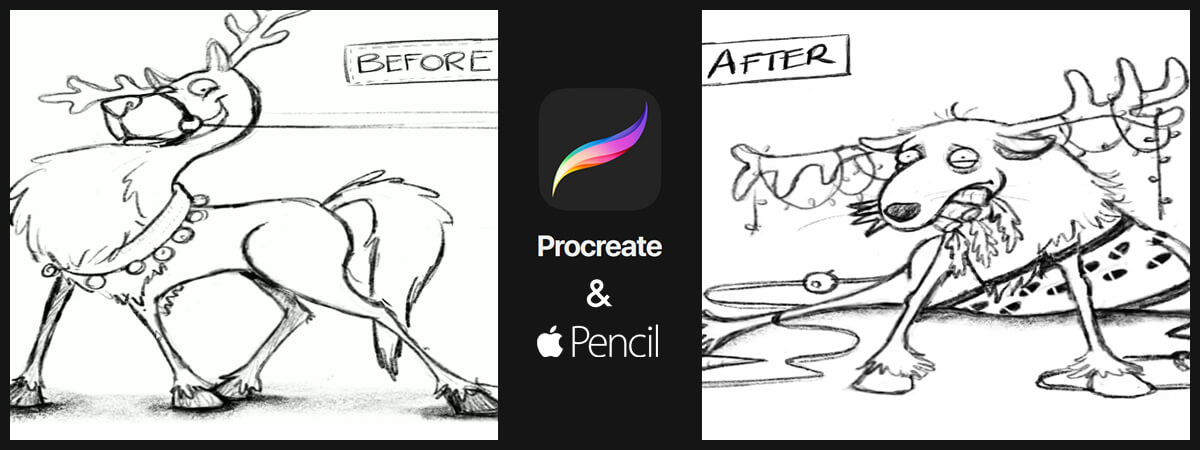 Christmas Sketches.Procreate For Ipad And Apple Pencil Timelapse Christmas
